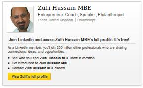 Zulfi Hussain MBE on Linkedin.